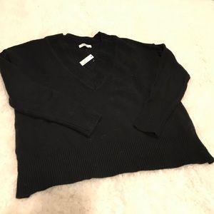 NWT Madewell V-neck Side-slit Sweater